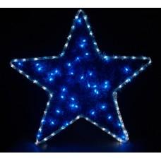 Световая фигура 230V4м LED белый+синий, 24 LED/1м, 4.8W, 20mA, IP 44, шнур 1,5м х 1мм, LT015