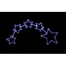 Световая фигура 230V 14м LED белый+синий, 24 LED/1м, 28.8W, 20mA, с контроллером, IP 44, шнур 1,5м х1мм, LT010