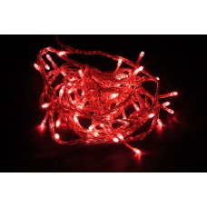 Светодиодная гирлянда CL02 линейная 230V красный c питанием от сети 26769