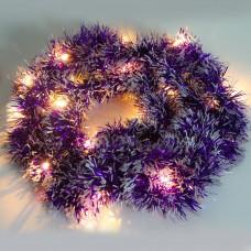 Светодиодная гирлянда CL800 мишура фиолетовый с питанием от батареек