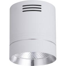 Светодиодный светильник AL521 накладной 20W 4000K белый c хром кольцом
