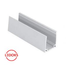 Профиль алюминиевый для неона 1000х15х20 мм