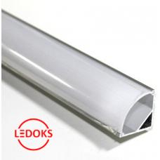 Угловой алюминиевый профиль с экраном AP-СС-015, 2000х14.5х5 мм