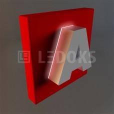 Объемные буквы с эффектом контражура