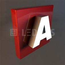Объемные буквы со светящейся лицевой частью