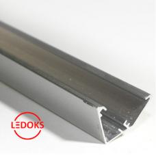 Угловой алюминиевый профиль без экрана AP-СС-034, 2000х13.9х20.65мм
