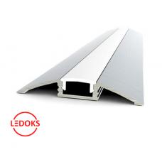 Накладной алюминиевый профиль AP-18, 2000х52x8.2 мм