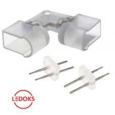 Угловой коннектор с иглой для светодиодного неона