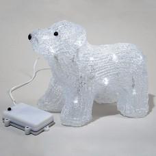 Медвежонок Полярный на батарейках, 17 см (KAEMINGK)