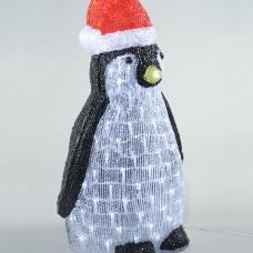 Пингвин в красном колпаке 50 Led, 40 см (KAEMINGK)