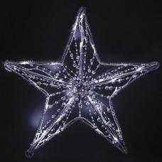 Звезда светодиодная, украшенная бусинами