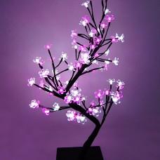 Бонсай 64 led, цветки сакуры 45 см