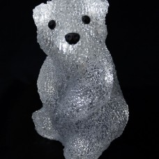 Медвежонок Бобби 16 Led, 20 см