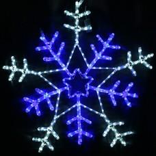 Светодиодная снежинка двухцветная 100 см