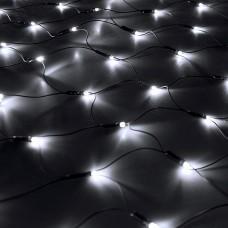 Светодиодная сеть 2x2 м черный провод