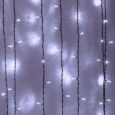 Световой занавес 1х6 метров, 600 led (черный провод)
