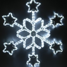 Светодиодная снежинка 70 см
