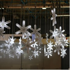 Снежинка светодиодная с динамикой, 9 led