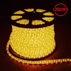 Дюралайт светодиодный LED-F3W 3-х жильный, желтый, 2,88Вт/м 72LED/м 50м 220V