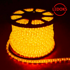 Дюралайт светодиодный LED-R2W 2-х жильный, желтый 1,44Вт/м 36LED/м 100м 220V