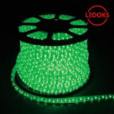 Дюралайт светодиодный LED-F3W 3-х жильный, зеленый 2,88Вт/м 72LED/м 50м 220V