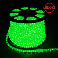 Дюралайт светодиодный LED-R2W 2-х жильный, зеленый 1,44Вт/м 36LED/м 100м 220V