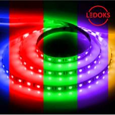 Cветодиодная LED лента LS606, готовый комплект 5м 60SMD(5050)/м 14.4Вт/м IP20 12V RGB