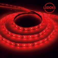 Cветодиодная LED лента LS603, 60SMD(2835)/м 4.8Вт/м 5м IP20 12V красный