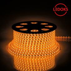 Cветодиодная LED лента LS704, 60SMD(2835)/м 4.4Вт/м 100м IP65 220V желтый