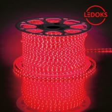Cветодиодная LED лента LS704, 60SMD(2835)/м 4.4Вт/м 100м IP65 220V красный
