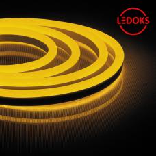 Гибкий неон светодиодный, 120SMD(2835)/м 9.6Вт/м 50м IP67 220V желтый