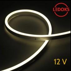 Тонкий нейтральный белый гибкий неон 12 В, 11 Вт, 120 LED