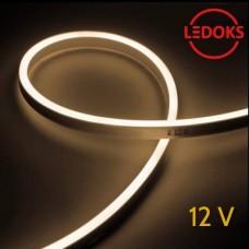 Тонкий теплый белый гибкий неон 12 В, 11 Вт, 120 LED