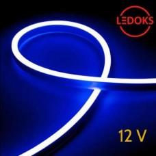 Тонкий синий гибкий неон 12 В, 11 Вт, 120 LED