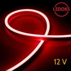 Тонкий красный гибкий неон 12 В, 11 Вт, 120 LED