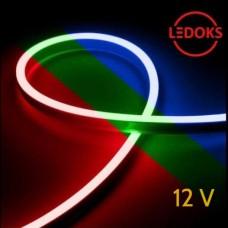 Тонкий гибкий неон RGB 12 В, 11 Вт, 120 LED