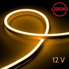 Тонкий желтый гибкий неон 12 В, 11 Вт, 120 LED
